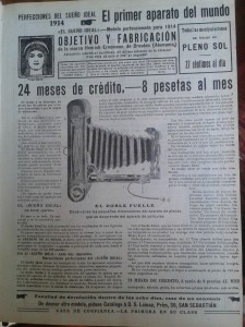 """Publicidad de la cámara fotográfica """"El sueño ideal""""."""