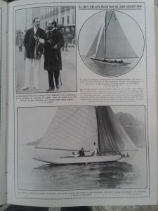 El rey Alfonso acude a las regatas de San Sebastián.