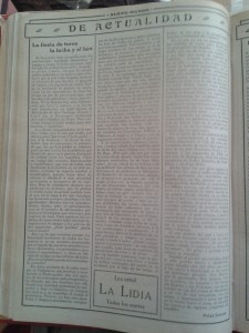 """'Ante la gran tragedia. Guapeza alemana'. Artículo de Antonio G. de Linares en """"Nuevo Mundo"""" (6-8-1914)"""