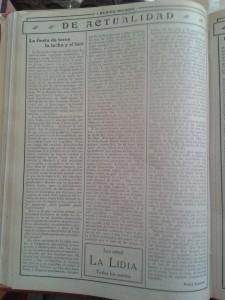"""'La fiesta de toros, la lucha y el box'. Artículo de  Felipe Sassone en """"Nuevo Mundo"""" (16-7-1914)"""