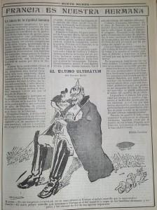 Artículo de Emilio Carrere en Nuevo Mundo en agosto de 1914.