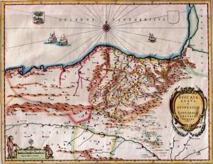 "Mapa de ""Biscaia, Alava et Guipuscoa"" (Amsterdam. 1662)"