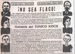 Publicidad del 'Tónico Koch', ideal para coger peso.