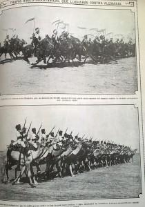 Tropas indostánicas antes de entrar en combate.