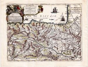 """""""La Biscaye et le Royaume de Navarre"""" (Paris, 1707)."""