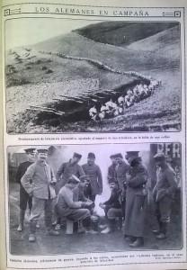 Prisioneros alemanes, jugando a las cartas, mientras varios soldados británicos les vigilan apaciblemente.