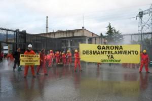 Acción de Greenpeace en contra de Garoña.